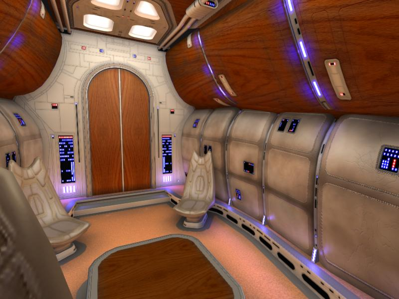 Inside Spaceship Control Room