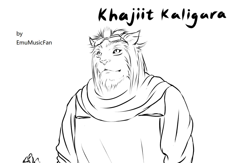 KhajiitKaligara_talking_sketch.png